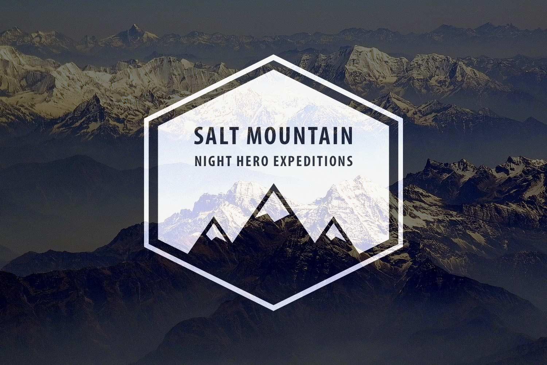 Salt mountain logo: light version