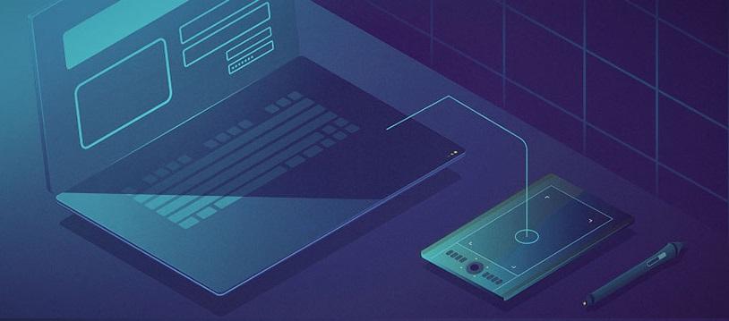 Ноутбук, планшет, ручка